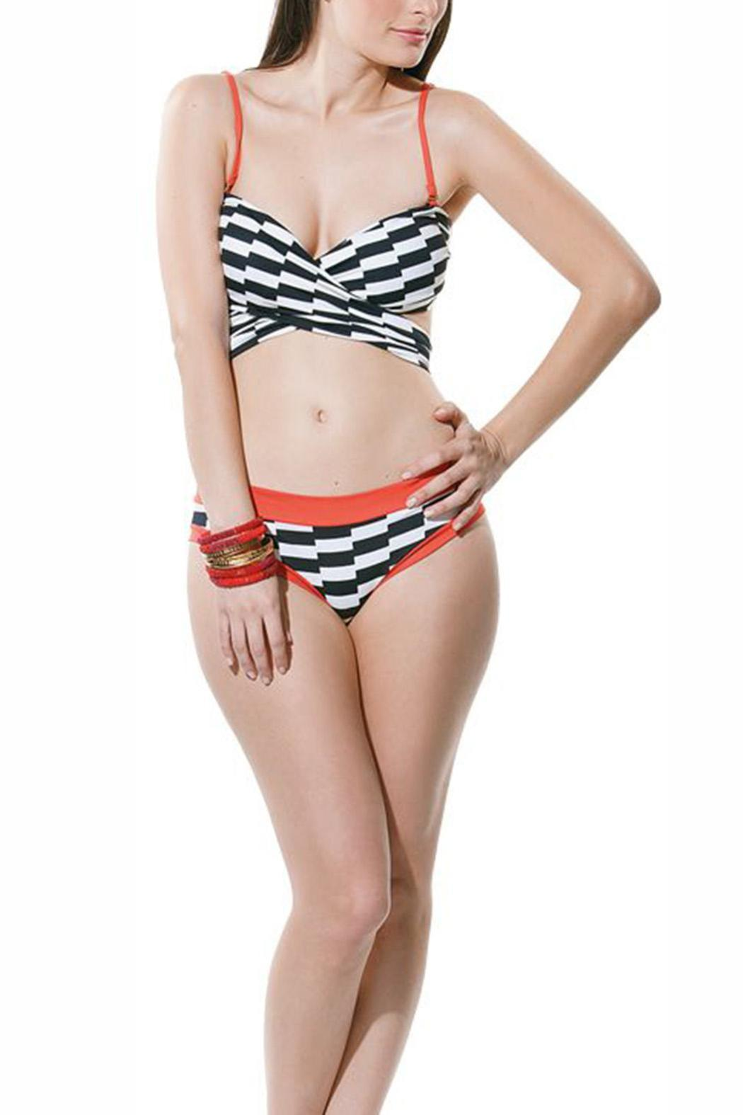 Estivo Twisted Top Swimwear - Front Cropped Image