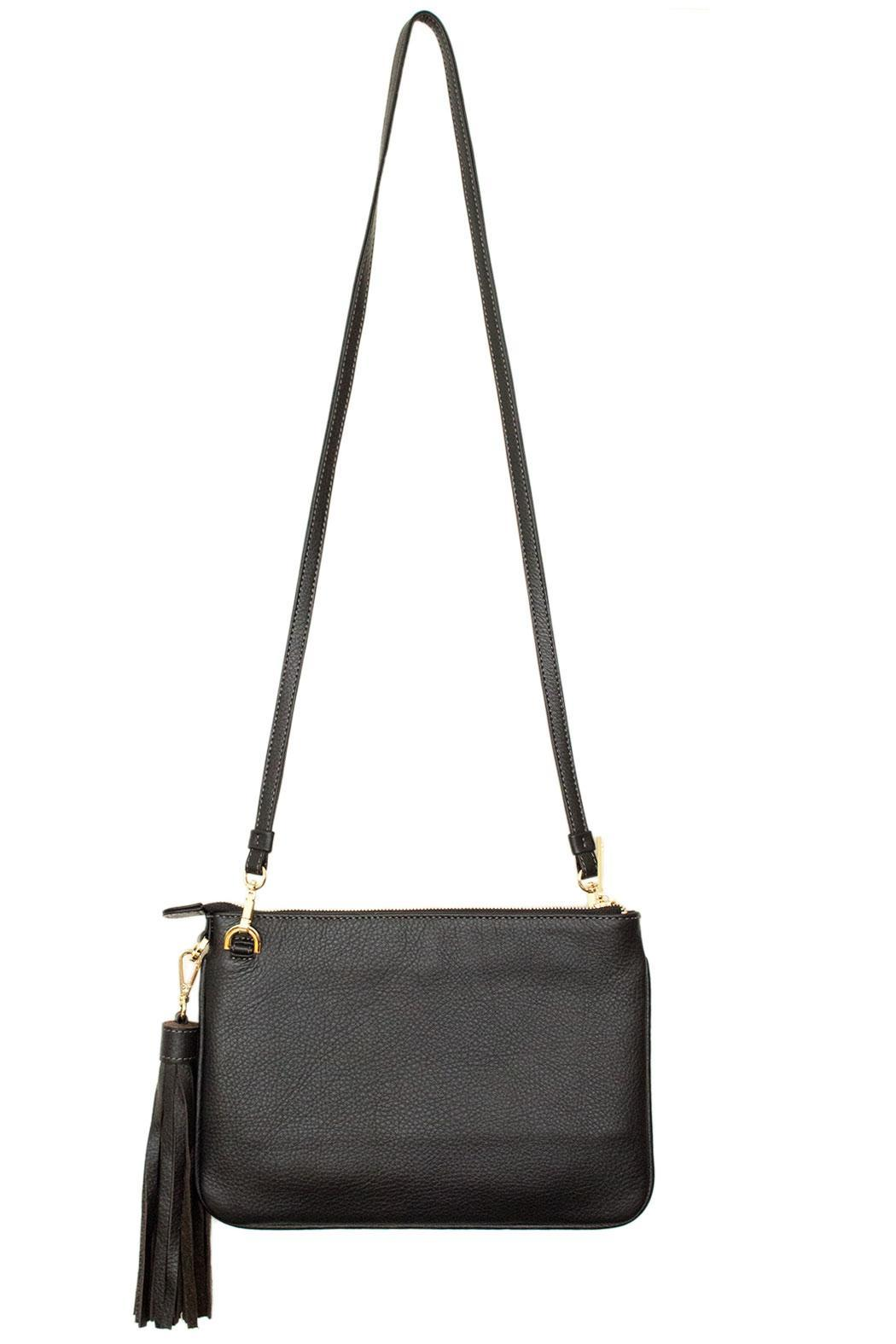 estocolmoapparel Black Leather Cross Body - Back Cropped Image