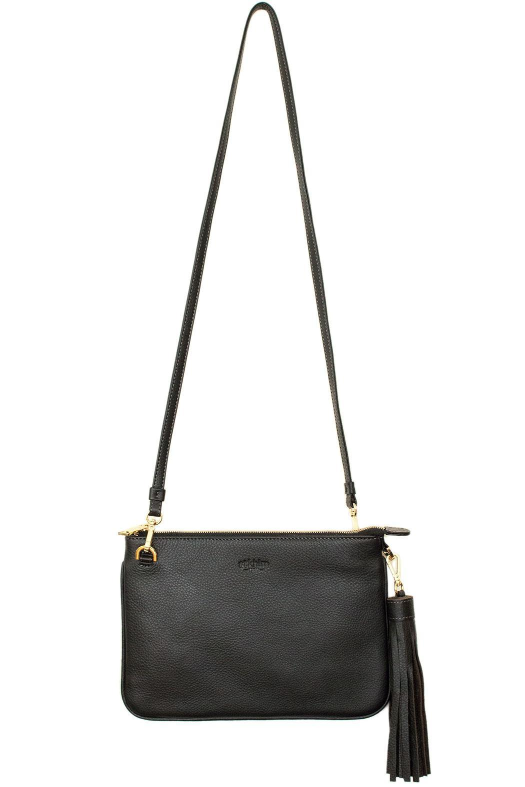 estocolmoapparel Black Leather Cross Body - Side Cropped Image