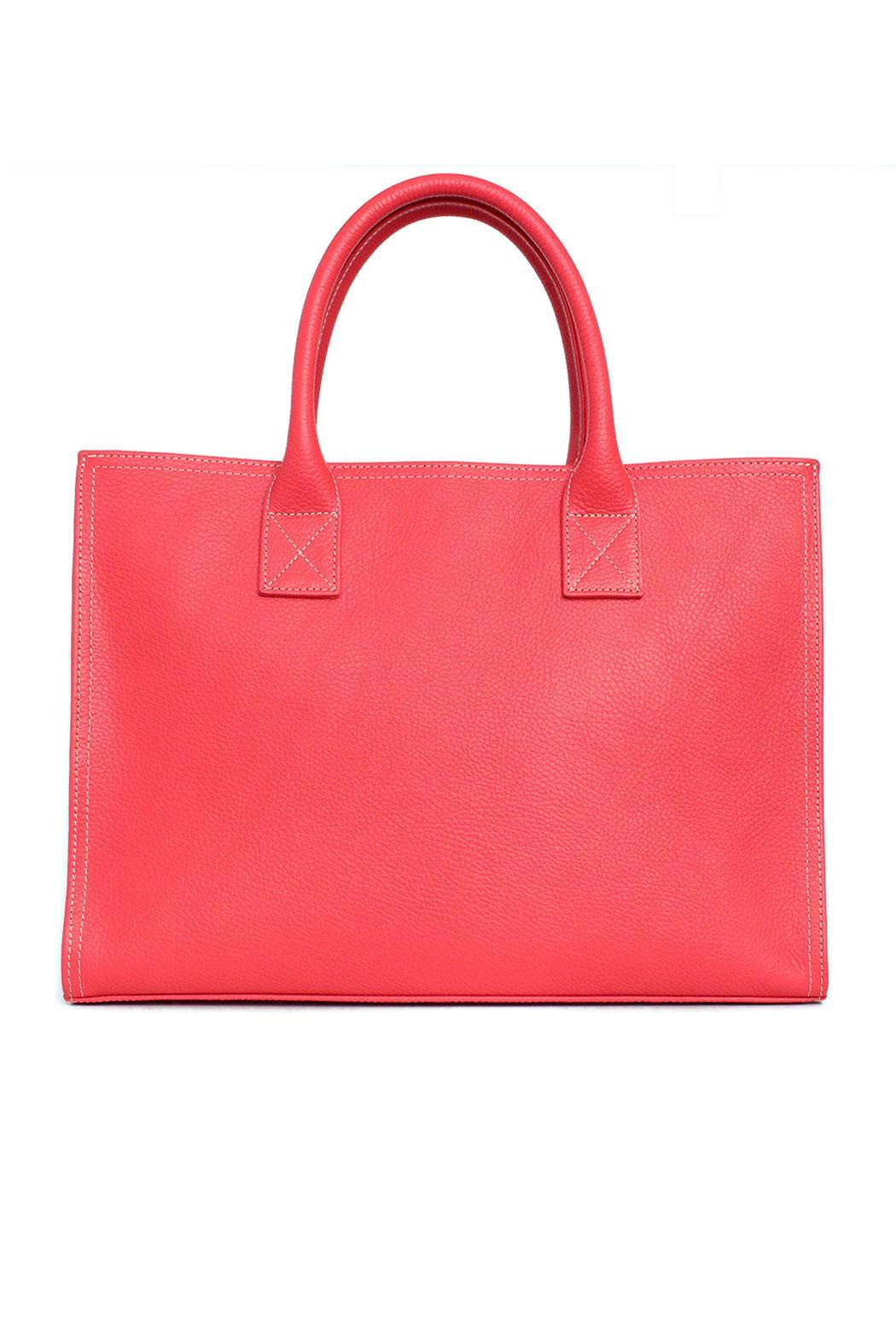 estocolmoapparel Coral Leather Bag - Front Full Image