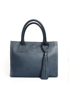 estocolmoapparel Navy Leather Bag - Product List Image