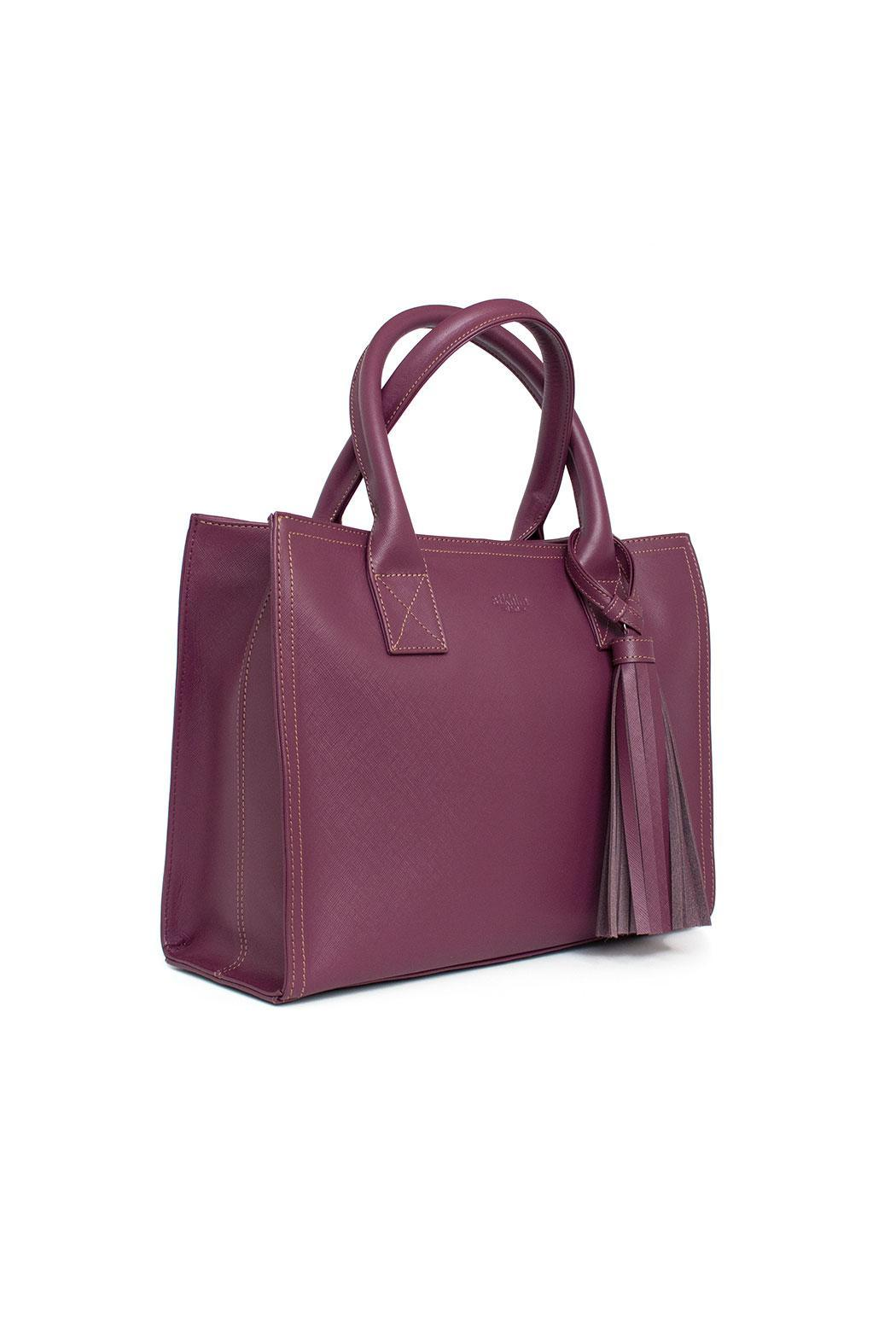 estocolmoapparel Purple Leather Handbag - Side Cropped Image