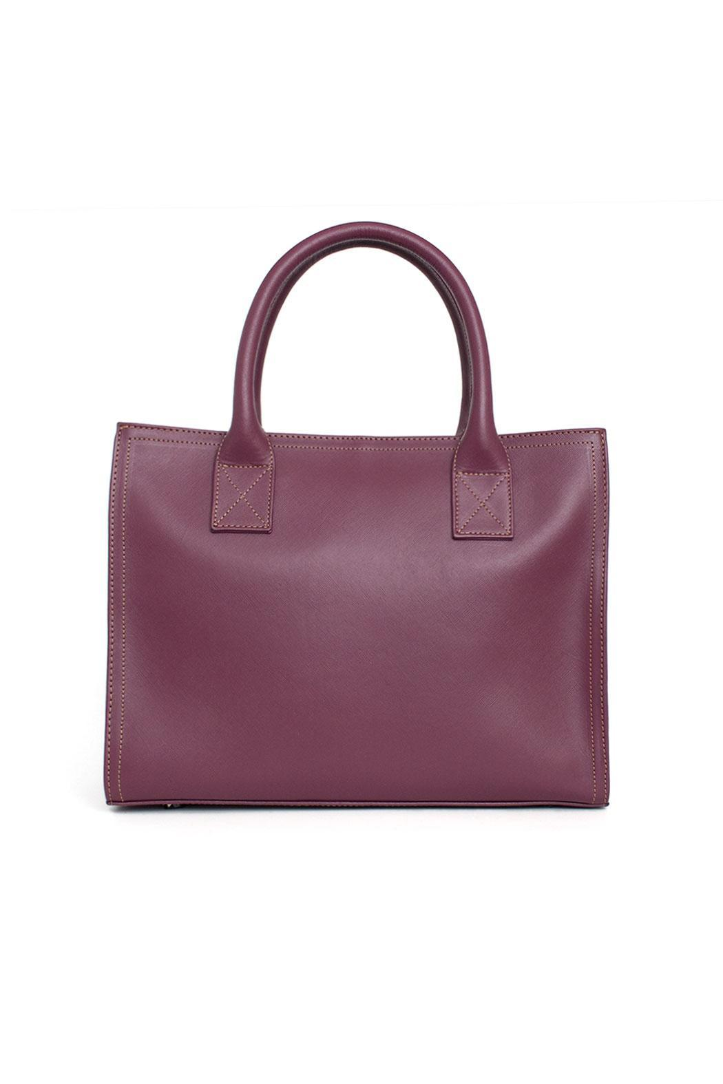 estocolmoapparel Purple Leather Handbag - Front Full Image