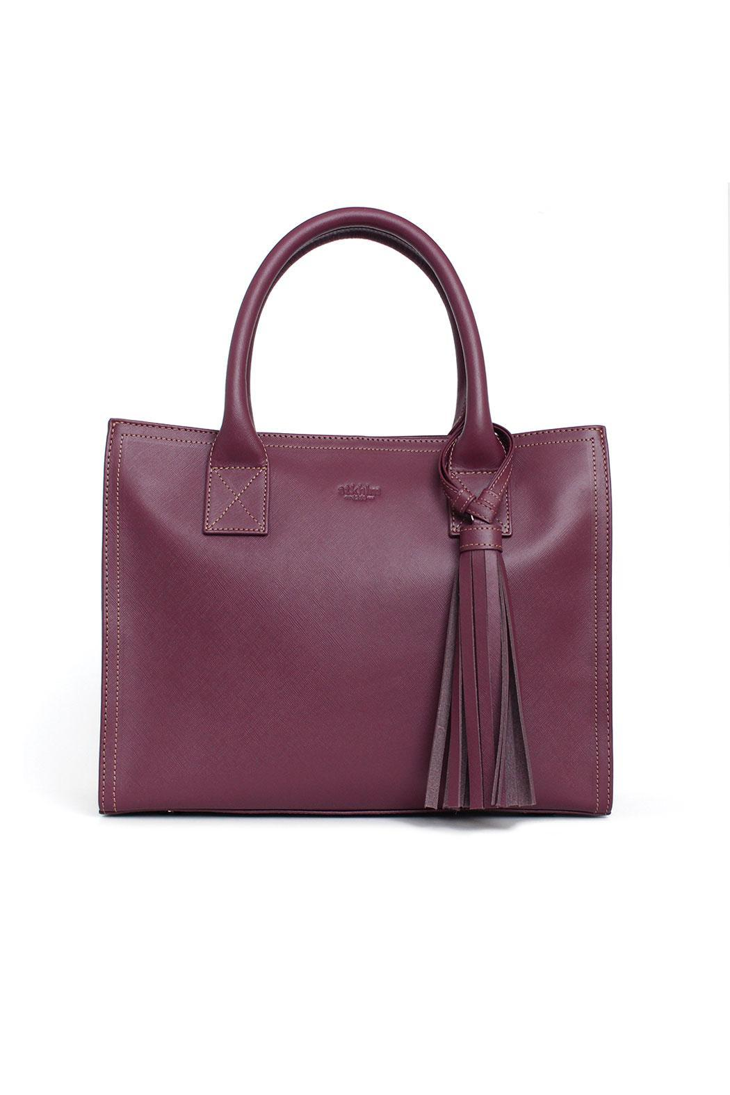 estocolmoapparel Purple Leather Handbag - Main Image