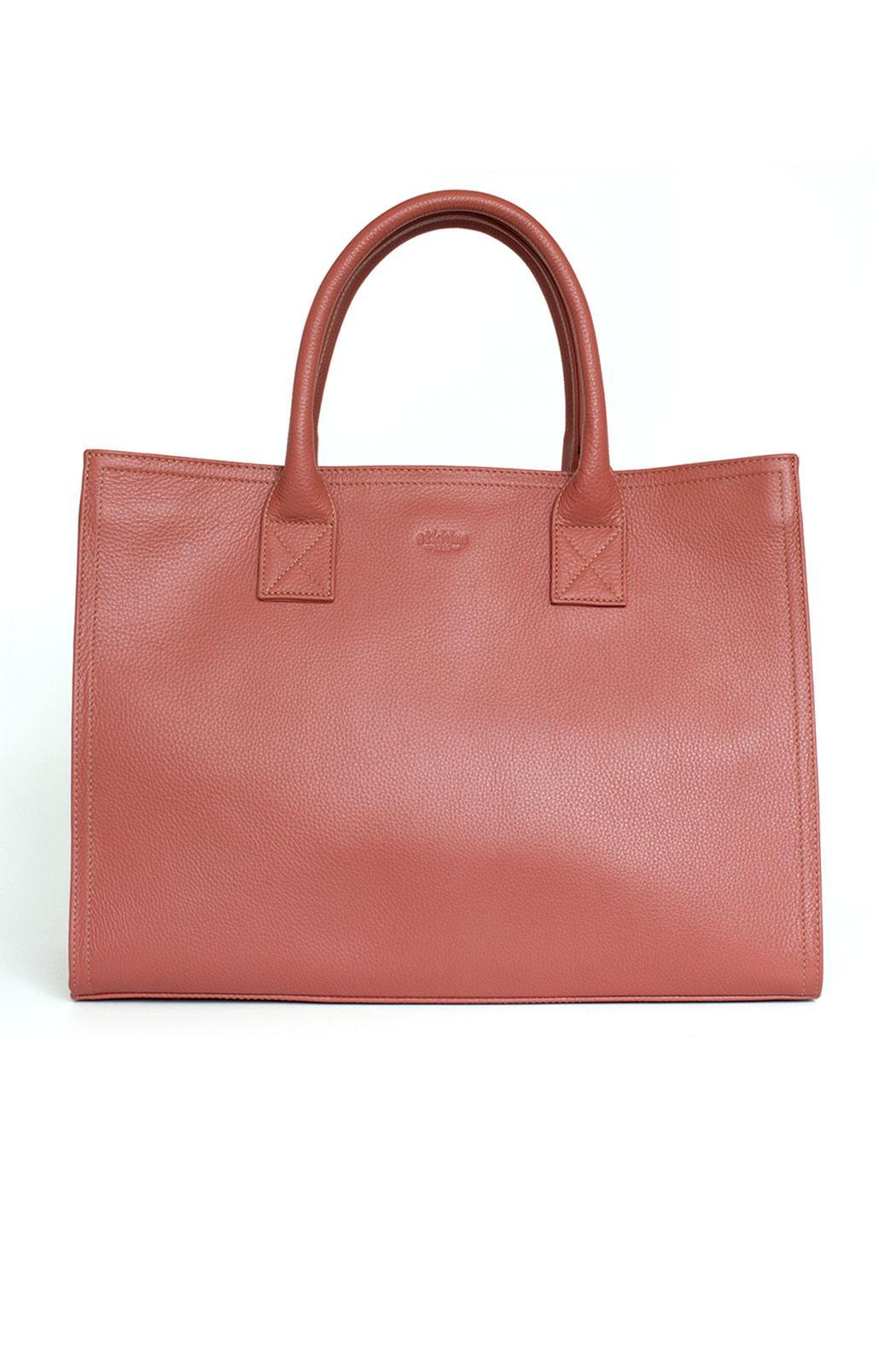 estocolmoapparel Salmon Leather Organizer - Front Cropped Image
