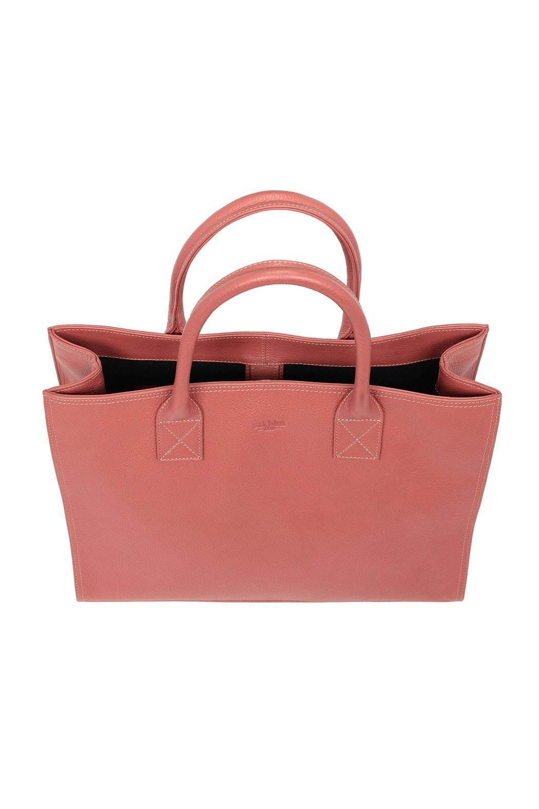 estocolmoapparel Salmon Leather Organizer - Back Cropped Image