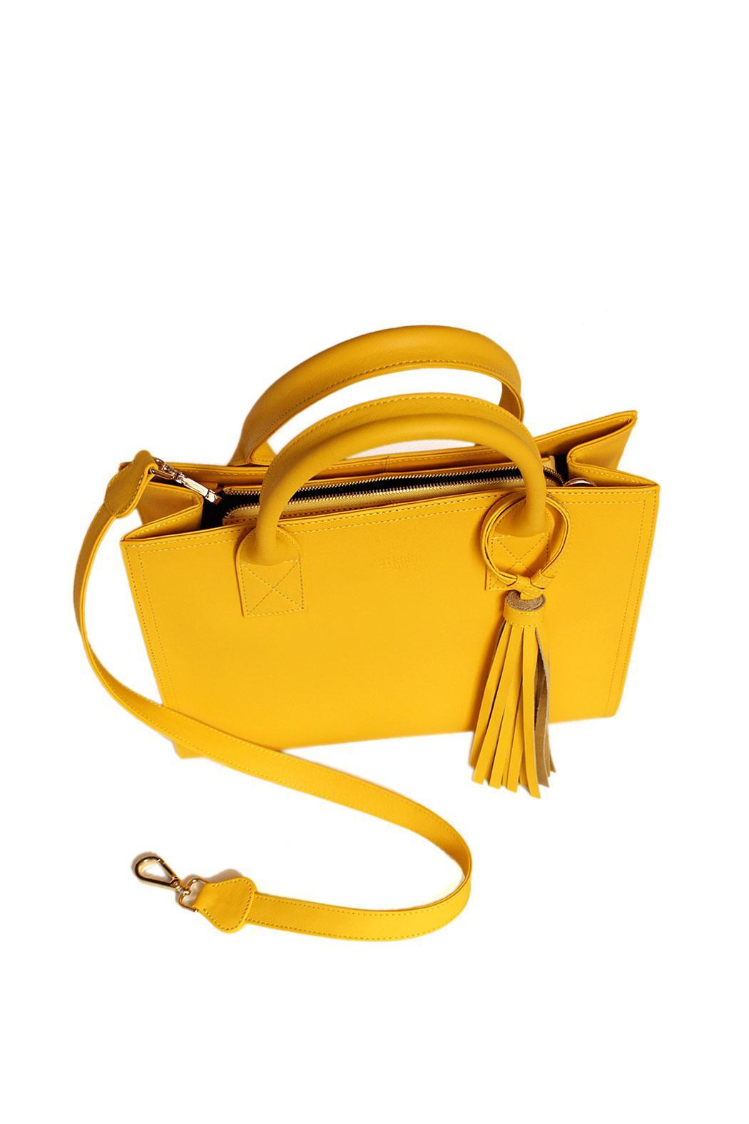 estocolmoapparel Yellow Leather Handbag from Mexico by ...