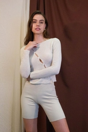 Et Clet Side Button Sweater - Front full body