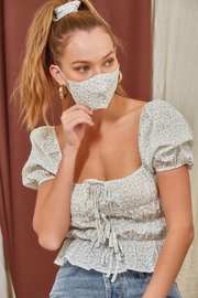 Et Clet Top Mask And Hair Scrunchie Set - Front full body