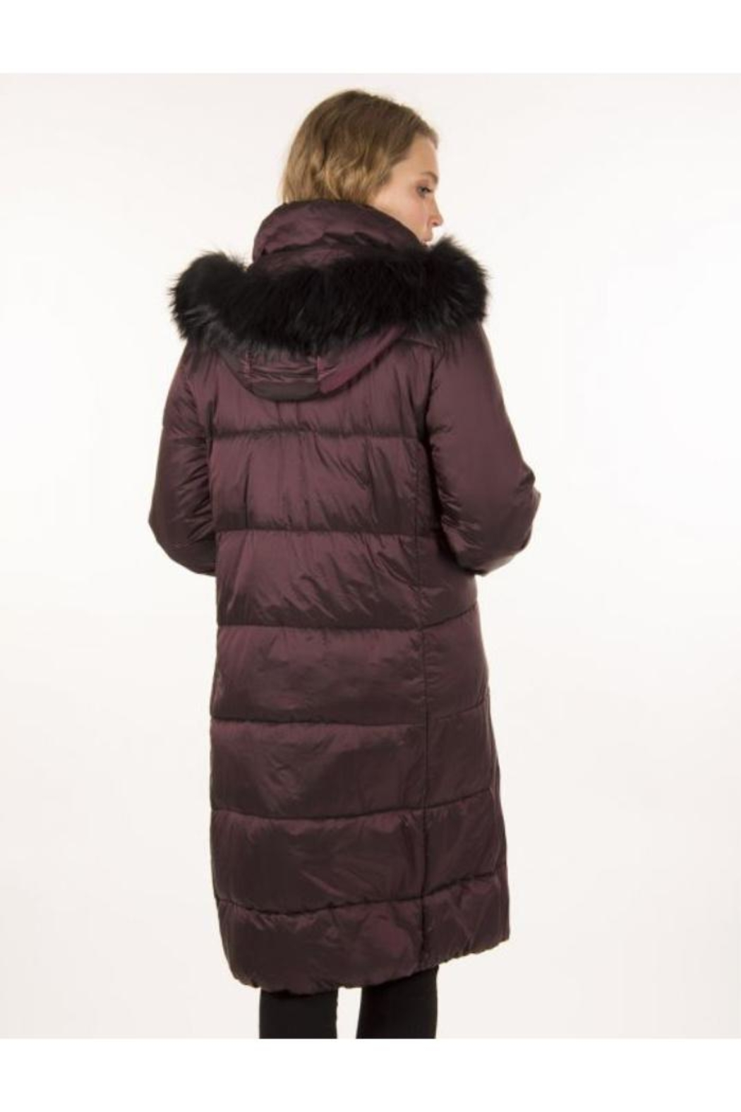 ETAGE Iridescent Fur-Trimmed Parka - Back Cropped Image