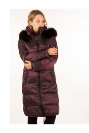 ETAGE Iridescent Fur-Trimmed Parka - Front full body