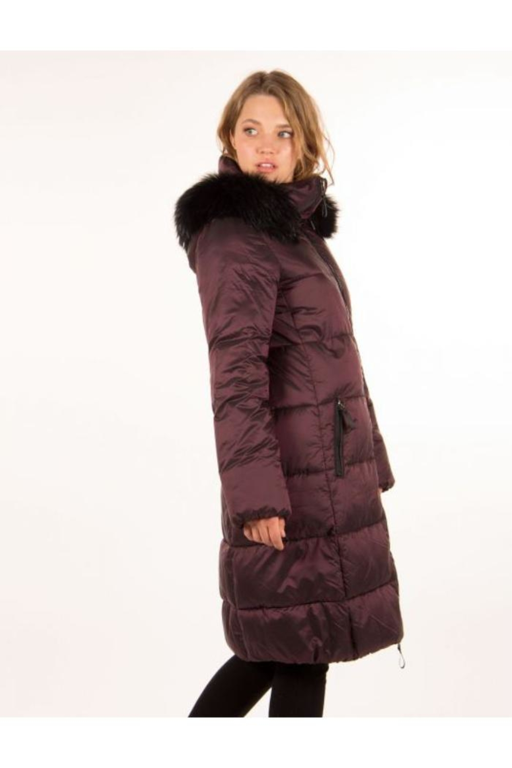 ETAGE Iridescent Fur-Trimmed Parka - Side Cropped Image
