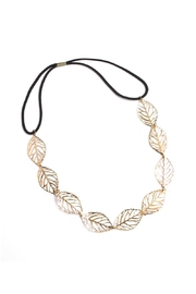 Riah Fashion Etched Leaf Headband - Product Mini Image