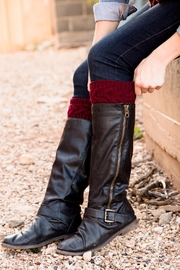 Eternal Threads Hand Knitted Bootcuffs - Front cropped
