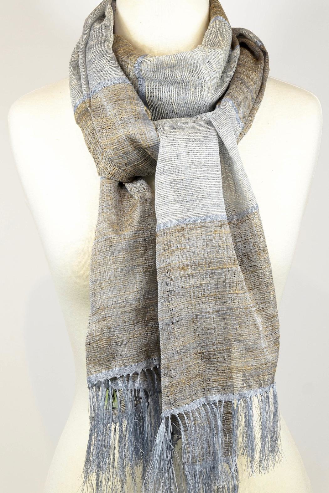 Eternal Threads Hand Loomed Shawl/scarf - Main Image