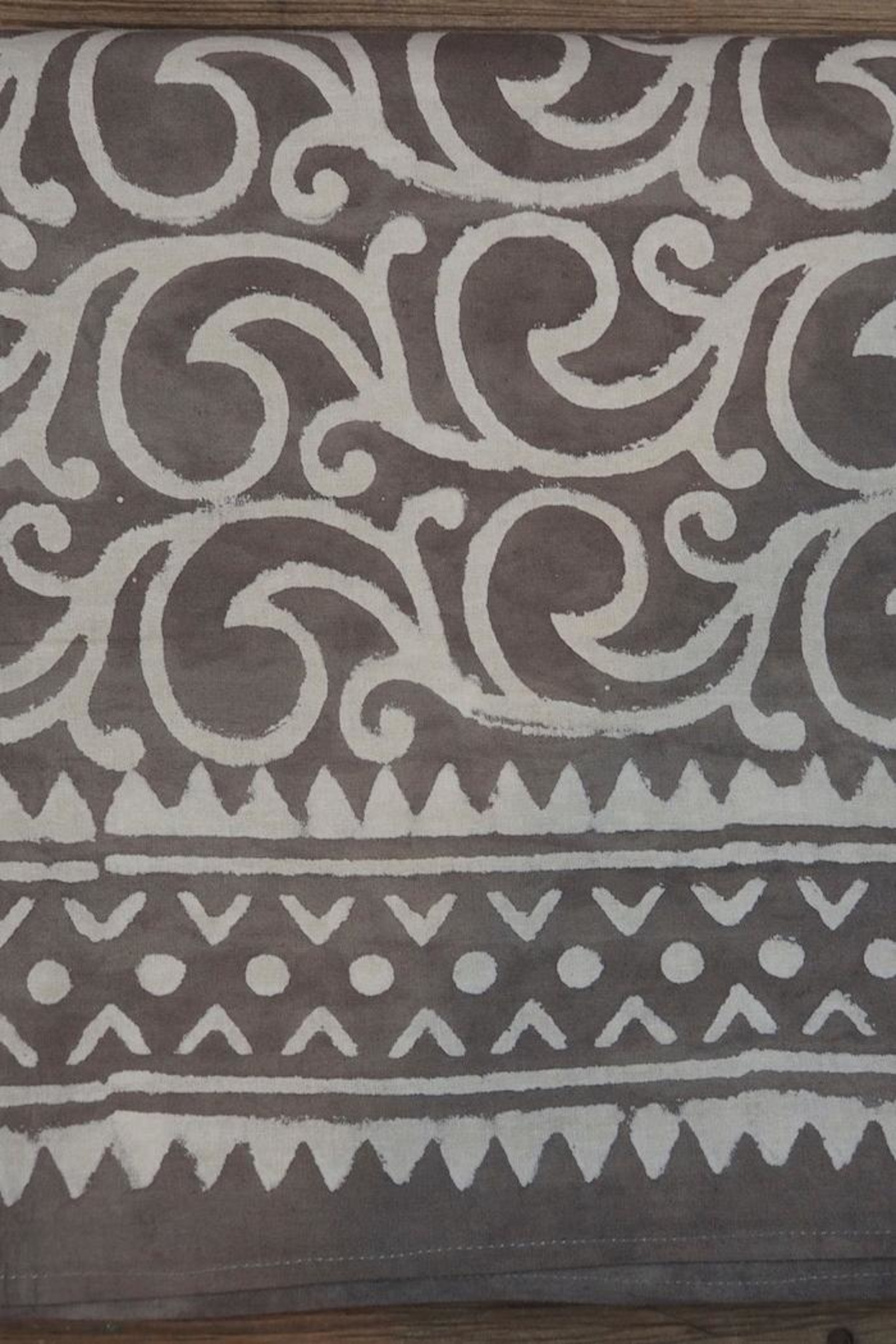 Eternal Threads Kalamkari Table Cover - Side Cropped Image