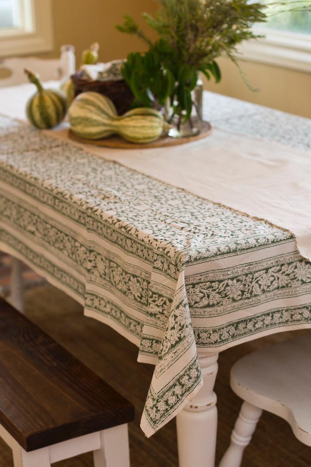 Eternal Threads Kalamkari Table Cover - Main Image