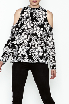 Ethereal Cold Shoulder Printed Blouse - Product List Image