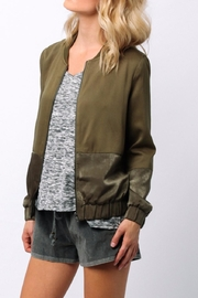 Ethereal Green Bomber Jacket - Front cropped