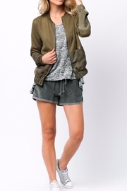 Ethereal Green Bomber Jacket - Back cropped