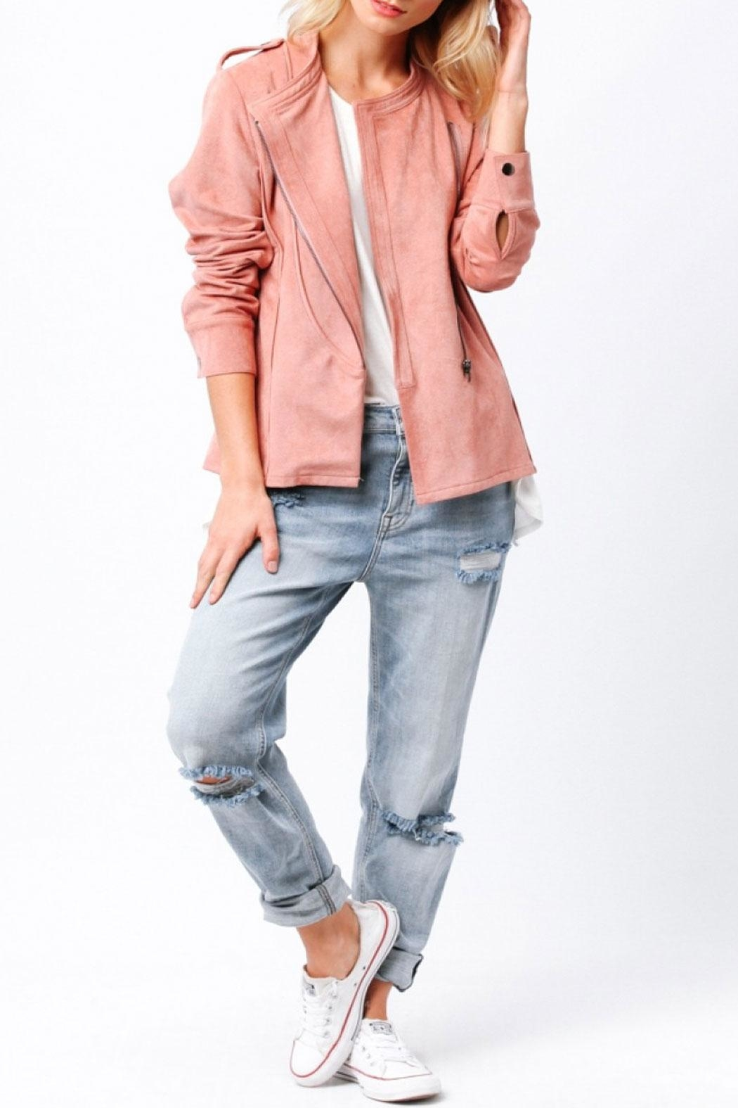 Ethereal Naomi Pink Jacket - Front Cropped Image