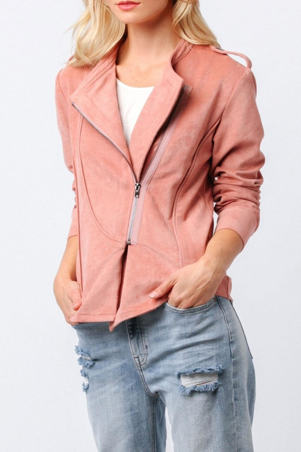 Ethereal Naomi Pink Jacket - Side Cropped Image