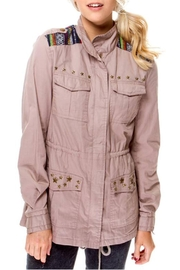 Cecico Ethnic Cargo Jacket - Front cropped