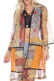 Aris A Ethnic Patchwork Cardigan - Product Mini Image