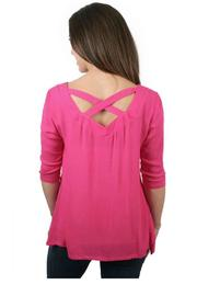 Ethyl Back Crossed Tunic - Front full body