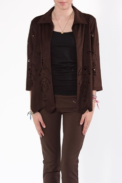 Shoptiques Product: Brown Cut-Out Jacket