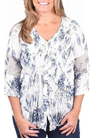 Ethyl Crinkle Floral Blouse - Product Mini Image
