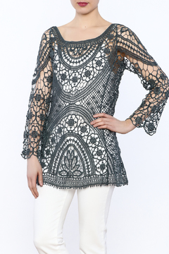Ethyl See-Through Crochet Tunic - Product List Image