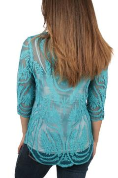 Ethyl Embroidered Crochet Top - Alternate List Image