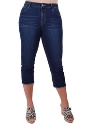 Ethyl Frayed Crop Jeans - Product Mini Image