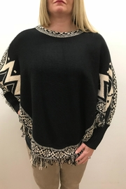 Ethyl Fringed Sweater Poncho - Front cropped