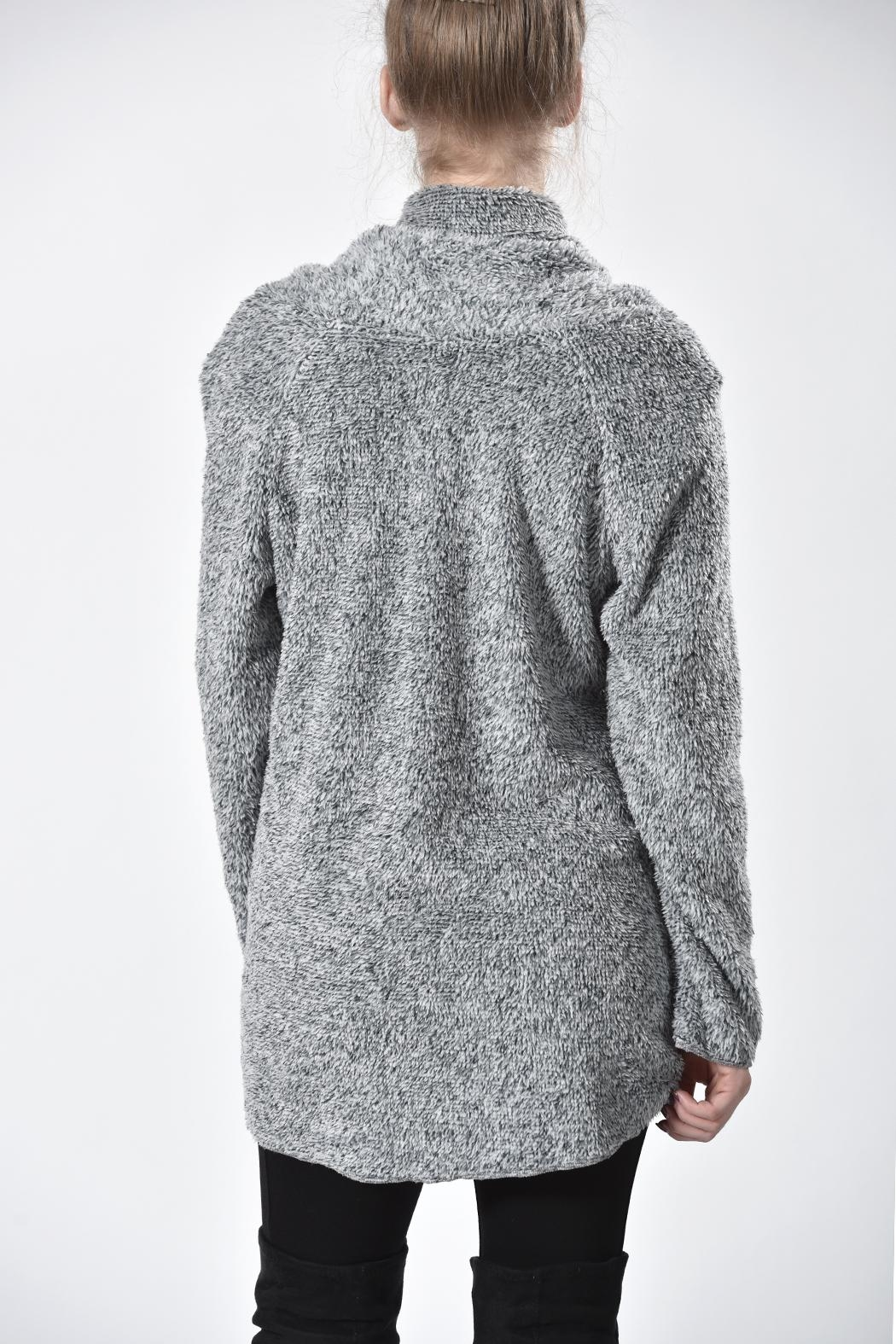 Ethyl Furry Cowl Sweater - Side Cropped Image
