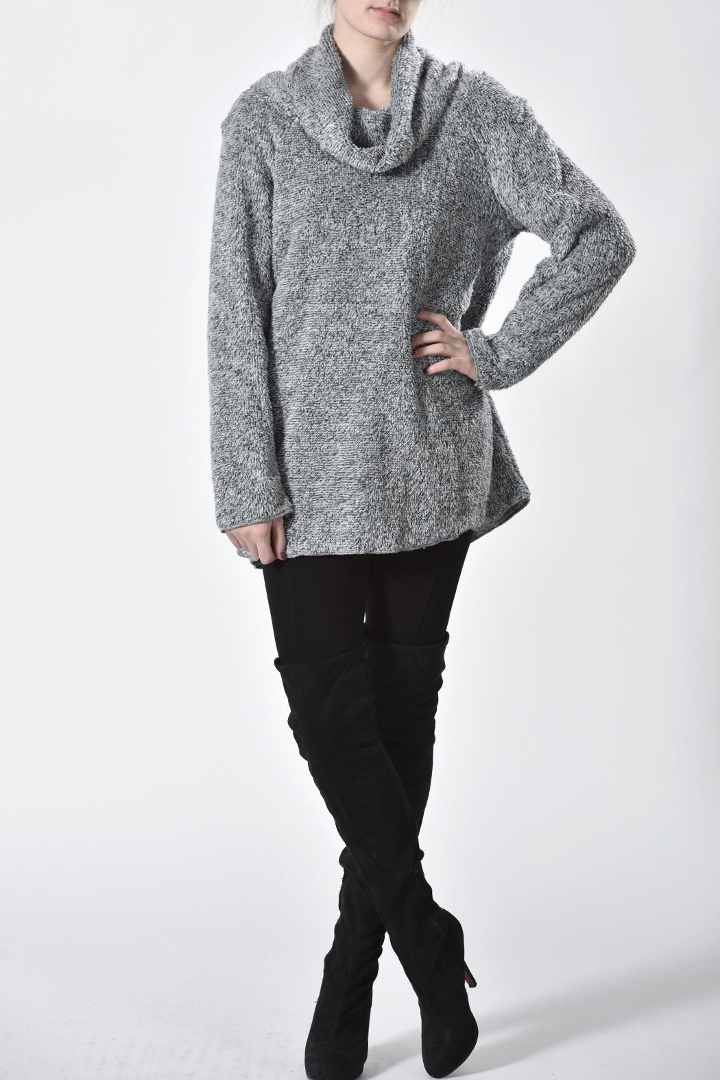 Ethyl Furry Cowl Sweater - Front Full Image