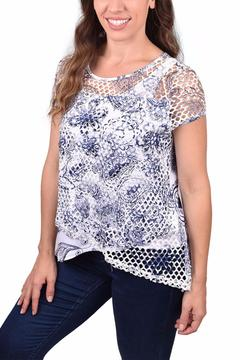 Ethyl Open-Weave Layered Top - Alternate List Image