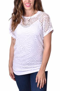Ethyl Open Weave Layered Top - Alternate List Image