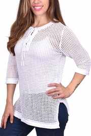 Ethyl Open Weave Sweater - Front cropped