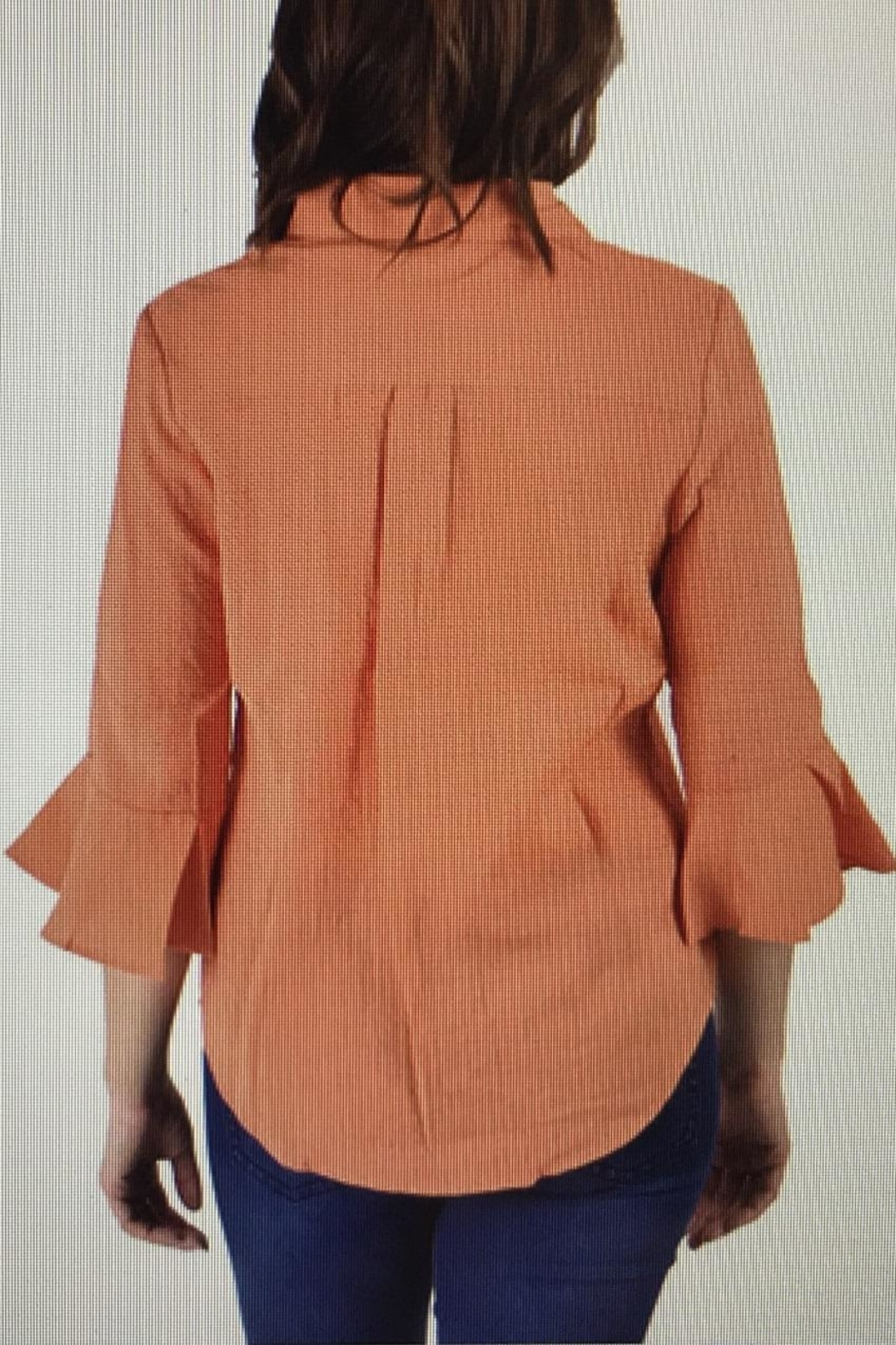 Ethyl Orange Sherbert Blouse - Front Full Image