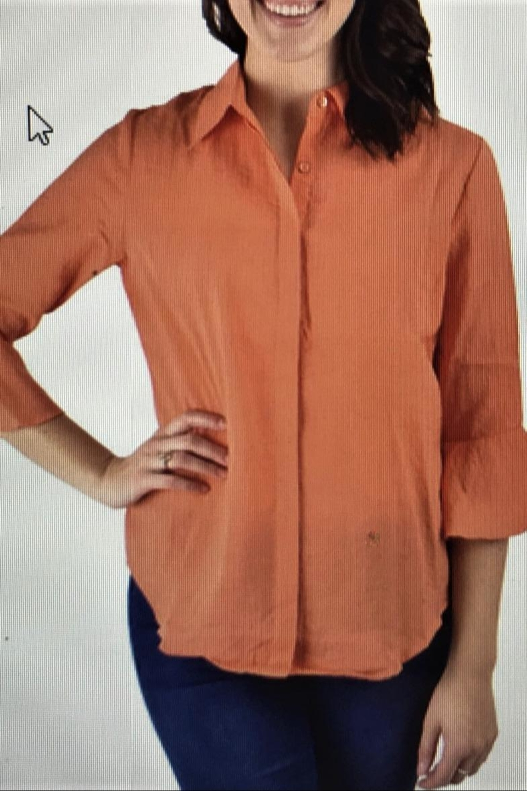 Ethyl Orange Sherbert Blouse - Main Image