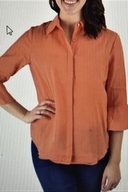 Ethyl Orange Sherbert Blouse - Front cropped