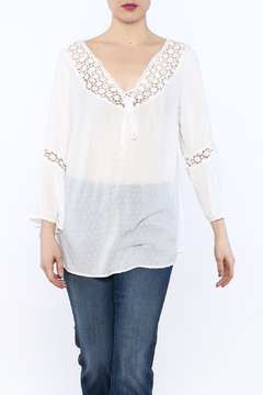 Ethyl White Peasant Blouse - Product List Image