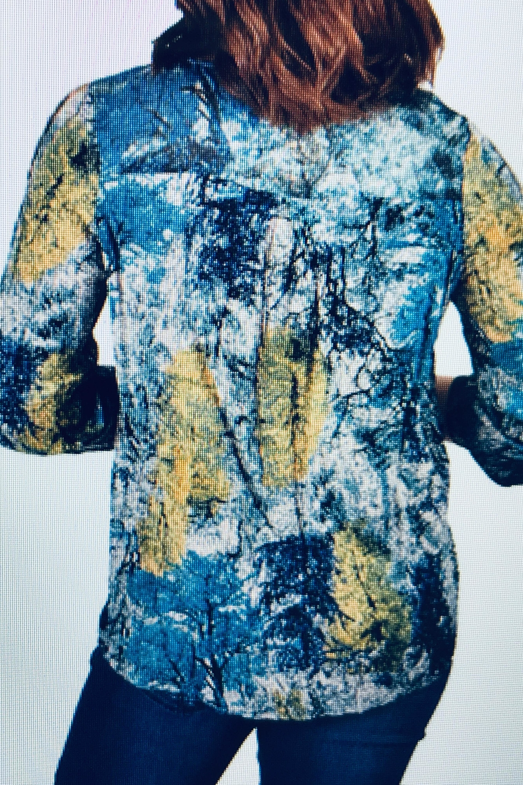 Ethyl Crinkle Rayon Blouse - Front Full Image