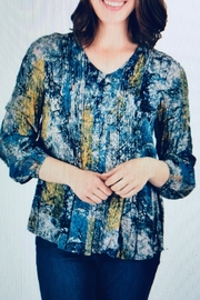 Ethyl Crinkle Rayon Blouse - Front cropped