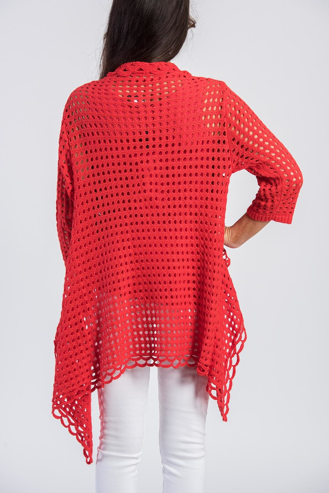 Ethyl Red Knit Cardigan - Front Full Image