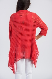 Ethyl Red Knit Cardigan - Front full body