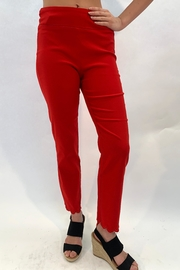 Ethyl Red Scallop Pant - Product Mini Image