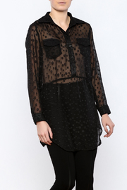 Ethyl Sheer Tunic Blouse - Product Mini Image